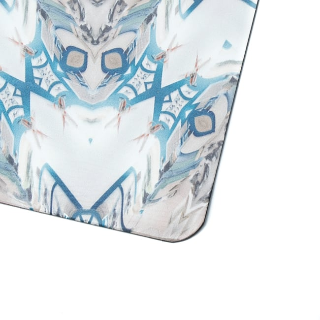 (天然ゴム)高品質エスニックヨガマット4mm - サイケデリックマンダラ 3 - 縁の拡大写真です