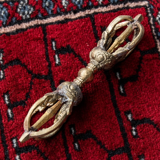 ドルジェ(ヴァジュラ・金剛杵) - 五鈷杵[15.5cm]の写真