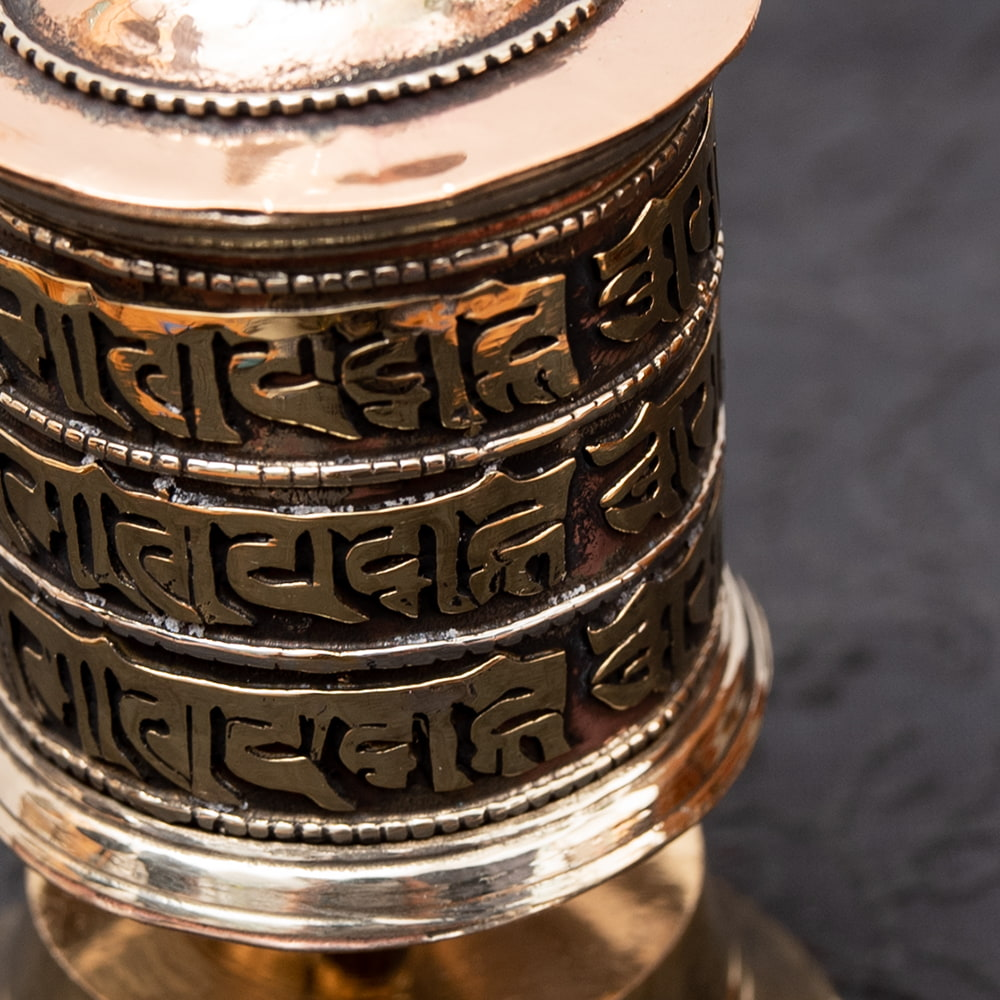卓上マニ車(小) 3 - はるかなチベット・ネパールの雰囲気たっぷりです。