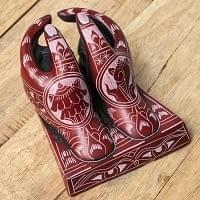 エスニック雑貨のセール品:[日替わりセール品]ネパールの名刺置き - ローズ