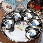 【ターリーセット】カレー大皿 [29cm]&カレー小皿(約8.3cm×約4.2cm)×5点