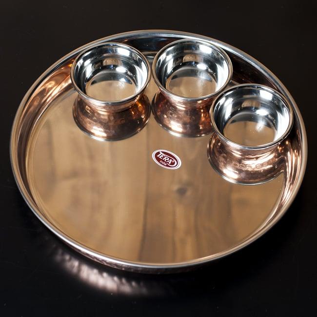 ロイヤルターリーセット トリプル(高級カレー大皿1枚と高級カレー小皿3枚のセット)の写真