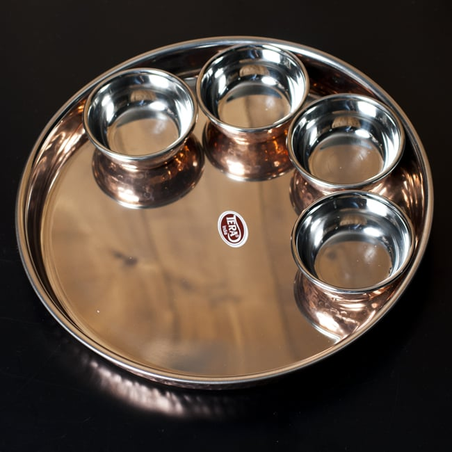 ロイヤルターリーセット クアトロ(高級カレー大皿1枚と高級カレー小皿4枚のセット)の写真
