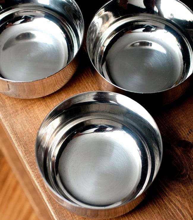 【お得!5点セット】カレー小皿(約7.6cm×約4cm)中サイズ サブジカトリの写真3 - 上からの写真です