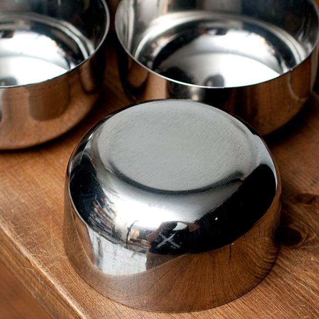 【お得!5点セット】カレー小皿(約7.6cm×約4cm)中サイズ サブジカトリの写真4 - 底面の写真です