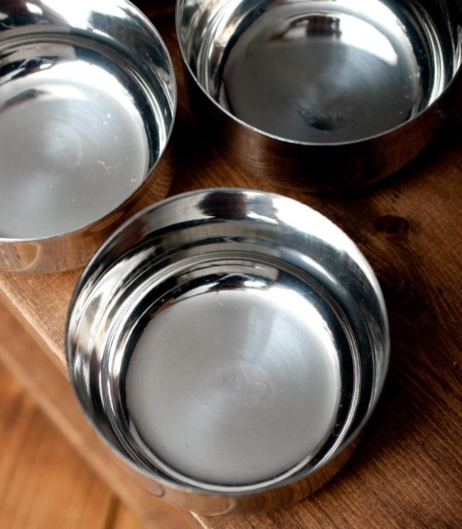 【お得!5点セット】カレー小皿(約8.3cm×約4.5cm)の写真4 - 上からの写真です