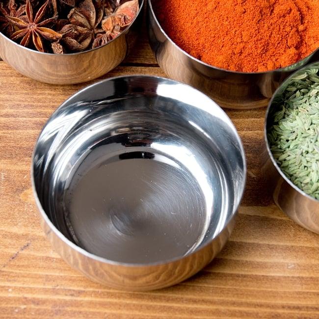 【訳あり・インド品質】お得なカレー小皿5個セット(約8.3cm×約4.2cm 約200ml) 4 - 上からの写真です