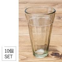 【お得な10個セット】インドのチャイカップ[高さ:約10.5cm 直径:約6.5cml]