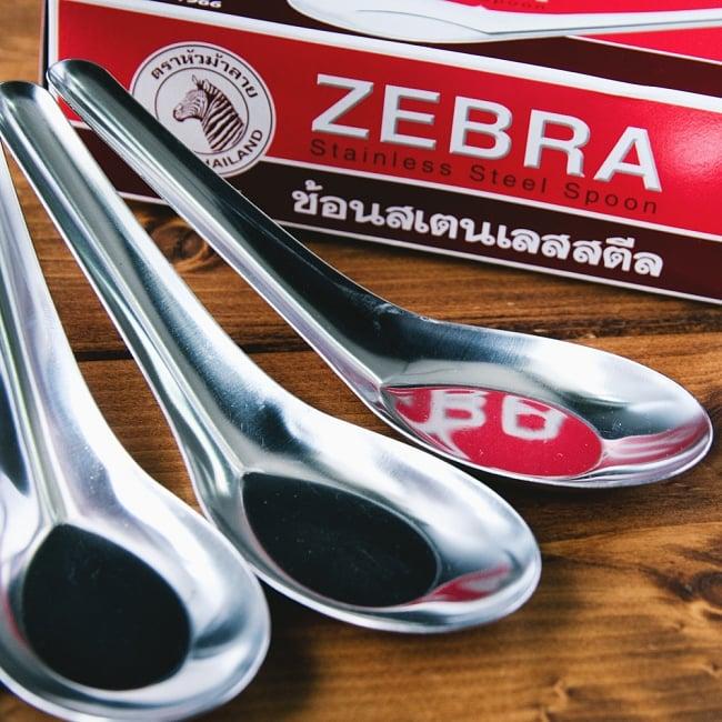 ゼブラ社製 タイ屋台のレンゲ6本セット ZEBRA - 13cm 2 - タイの食器でトップブランドのZEBRAです