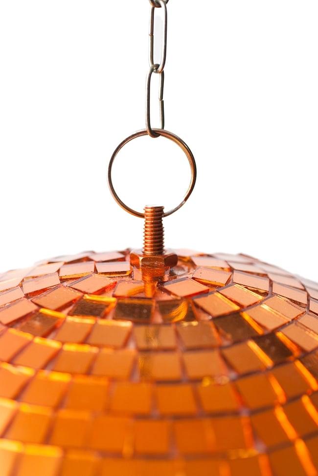 ミラーボール −銅色[300mm] 3 - 頂上にはこのような器具がついているので取り付けが簡単です。