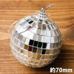 【お得3個セット】手のひらサイズのミラーボール パーティーなどの装飾へ[70mm]の写真