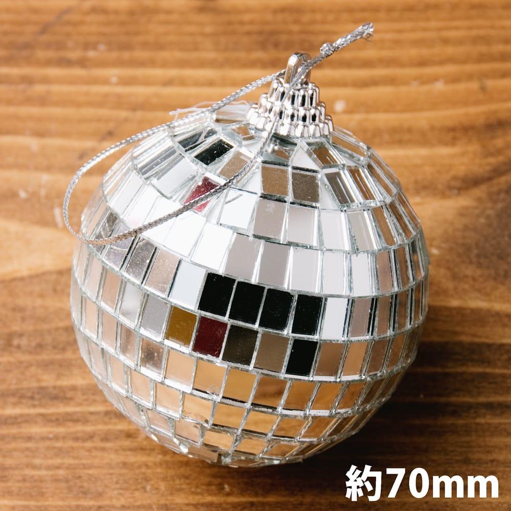 手のひらサイズのミラーボール パーティーなどの装飾へ[70mm]の写真