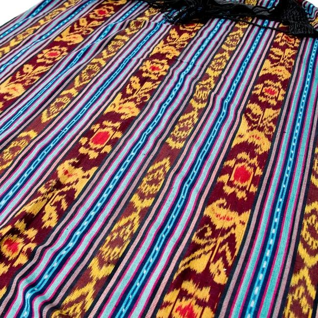 バリ島のゆったりイカットハンモック 美しい伝統かすり模様 17 - アジアンな良い雰囲気
