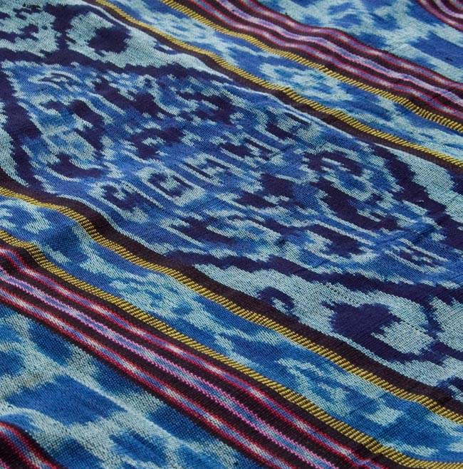 バリ島のゆったりイカットハンモック 美しい伝統かすり模様 2 - 全体写真です。約110cm×約215cmのゆったりサイズ。