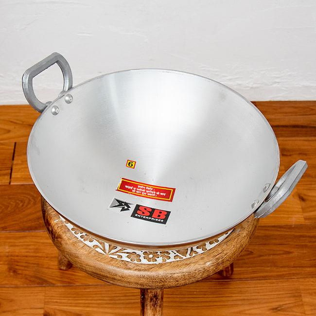 インド鍋 アルミニウム カダイ【直径:約29.7cm】 2 - 上からの写真です