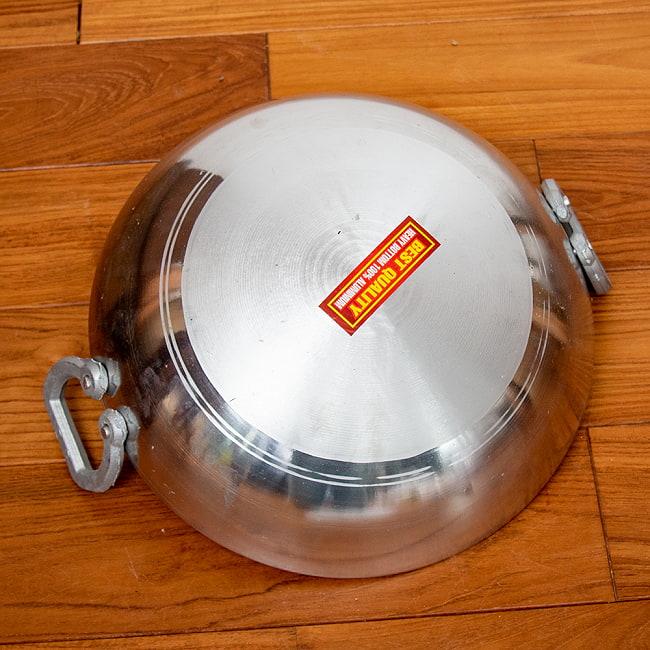 インド鍋 アルミニウム カダイ【直径:約29.7cm】 3 - 底面を見てみました。