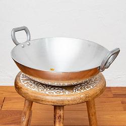 インド鍋 アルミニウム カダイ【直径:約29.7cm】の商品写真