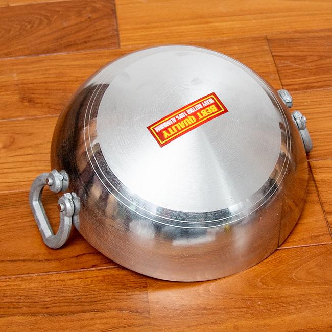 インド鍋 アルミニウム カダイ【直径:約31.5cm】 3 - 底面を見てみました。