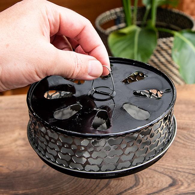 タイのアジアンデザイン蚊取り線香ボックス 6 - 手に取るとこれくらいの大きさです。