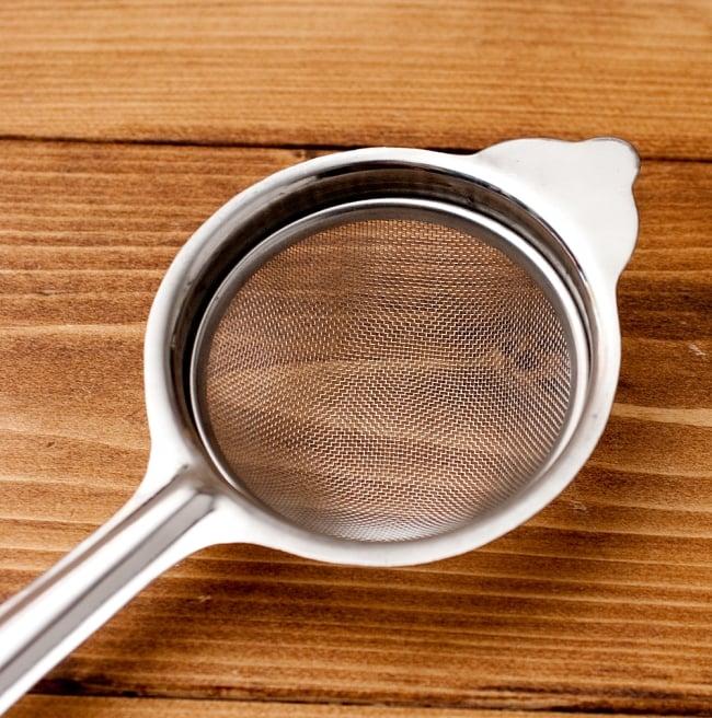 チャイ用の茶こし器[約23.5cm]の写真3 - 網の部分の拡大写真です