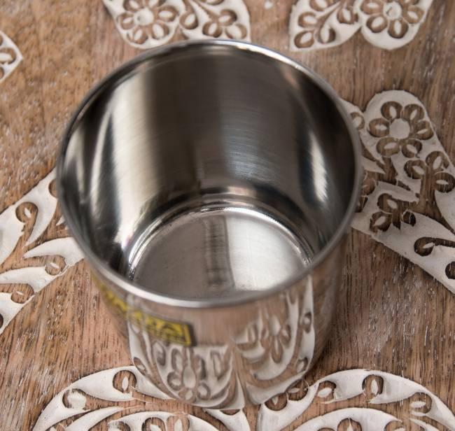 涼しげな音の鳴る ステンレスのチャイカップ [直径:約7cm×高さ:約8cm] 3 - 上面から撮影しました