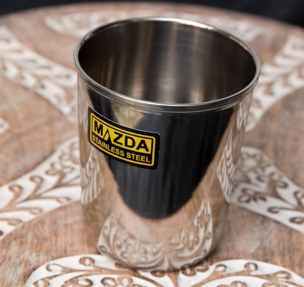 涼しげな音の鳴る ステンレスのチャイカップ [直径:約7cm×高さ:約8cm]の写真