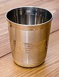 ステンレスのチャイカップ [直径:約7cm×高さ:約8.5cm]