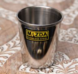 涼しげな音の鳴る ステンレスのチャイカップ [直径5.6cm×高さ6.5cm]