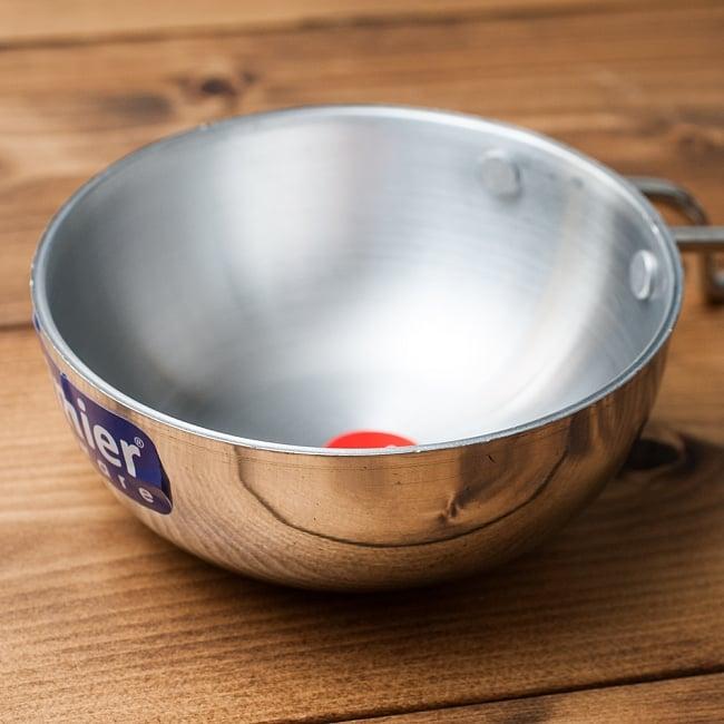 タルカパン[特大]- アルミ【34cm】インド料理でスパイスをテンパリングする調理器具 2 - 鍋の部分です。ここに油を熱してスパイスの香りを移します。