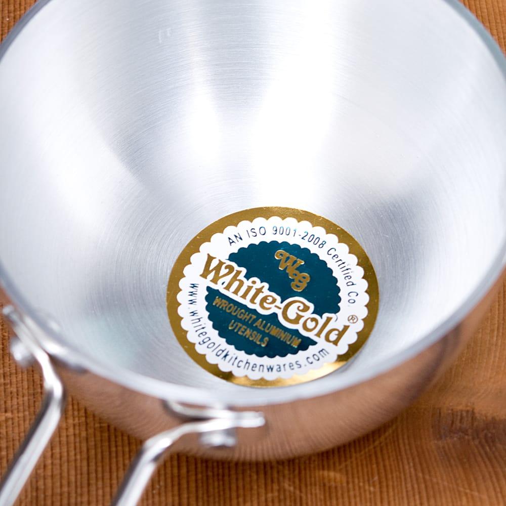 タルカパン[大] - アルミ【約35cm】インド料理でスパイスをテンパリングする調理器具 4 - 中の拡大です