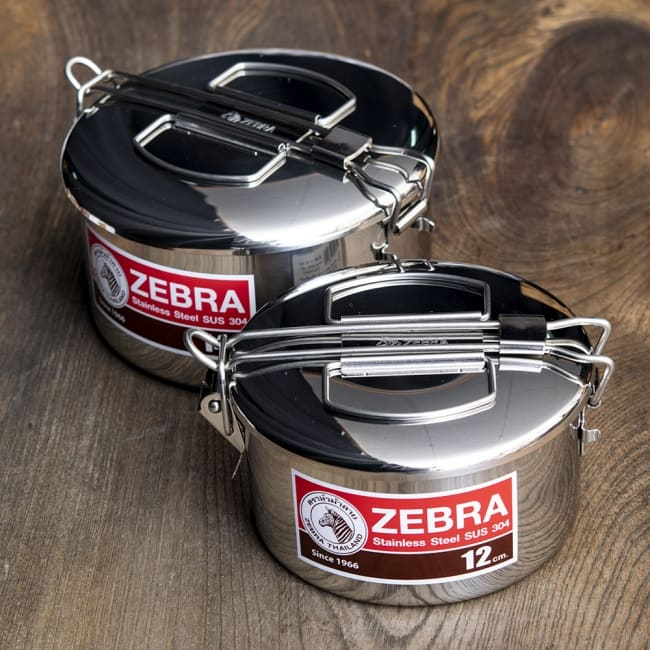 鍋にもなる タイのステンレス弁当箱 ZEBRAブランド - 12cm 9 - 12cmと14cmを比較してみました。
