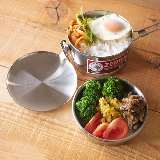 鍋にもなる タイのステンレス弁当箱 ZEBRAブランド - 14cm 2 - 毎日のお弁当作りが楽しくなります!