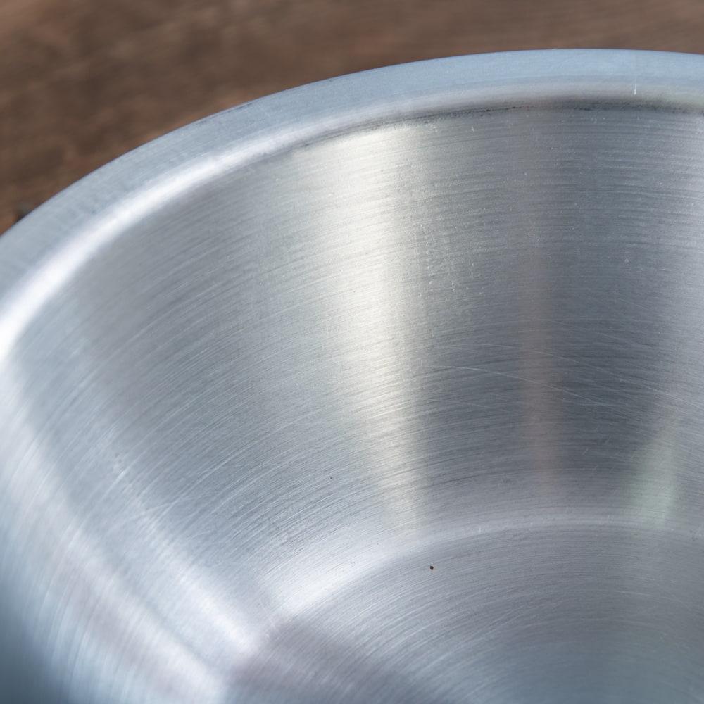 キャンプにも便利なアルミボウル ミキシングボウル〔約16.5cm×約4.9cm〕 シンプルだけど、ぬくもりあるタイの食器 3 - 拡大写真です