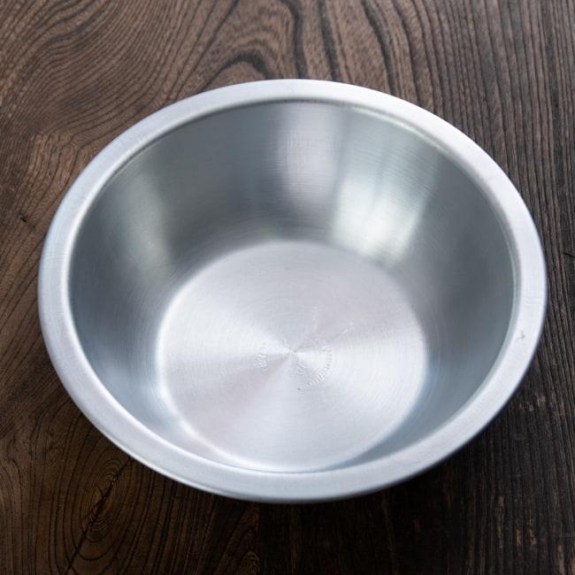 キャンプにも便利なアルミボウル ミキシングボウル〔約18.5cm×約5.2cm〕 シンプルだけど、ぬくもりあるタイの食器 2 - 上からの写真です