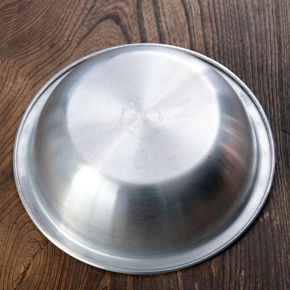 キャンプにも便利なアルミボウル ミキシングボウル〔約18.5cm×約5.2cm〕 シンプルだけど、ぬくもりあるタイの食器 4 - 裏面です