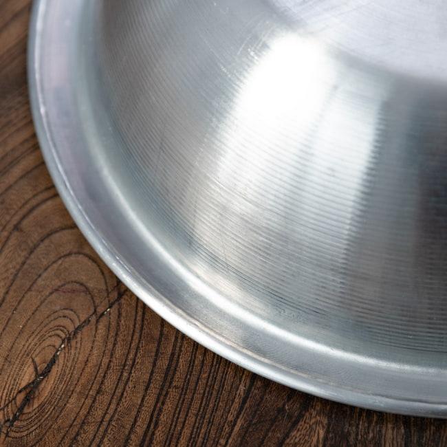 キャンプにも便利なアルミボウル ミキシングボウル〔約18.5cm×約5.2cm〕 シンプルだけど、ぬくもりあるタイの食器 5 - 拡大写真です
