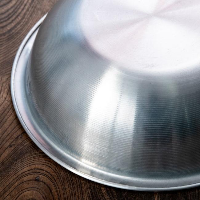 キャンプにも便利なアルミボウル ミキシングボウル〔約24.5cm×約7.5cm〕 シンプルだけど、ぬくもりあるタイの食器 5 - 拡大写真です