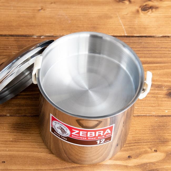 〔12cm 1.4L〕ブッシュクラフトの定番 ゼブラ社のビリー缶・ビリーポット 焚き火とキャンプの直火調理へ〔ステンレスSUS304製〕 10 - 中蓋がついているので便利