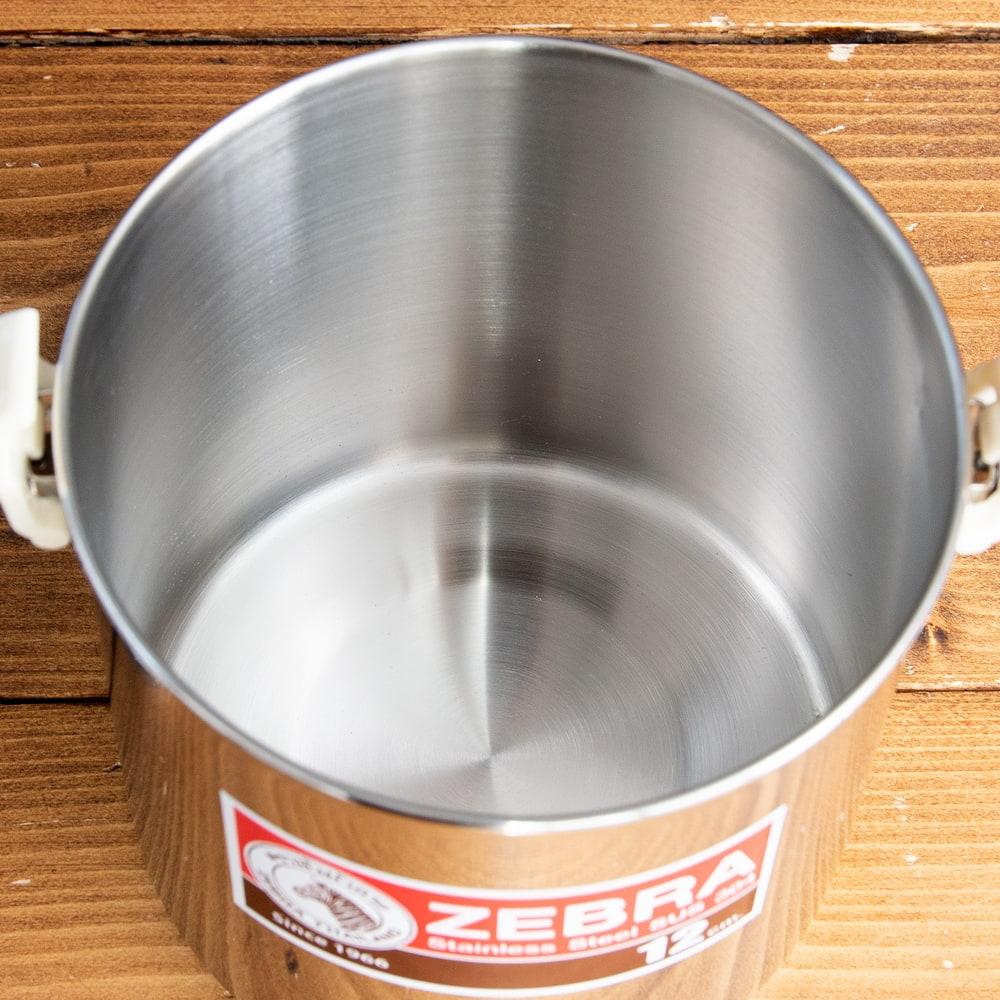 〔12cm 1.4L〕ブッシュクラフトの定番 ゼブラ社のビリー缶・ビリーポット 焚き火とキャンプの直火調理へ〔ステンレスSUS304製〕 14 - 沢山入ります