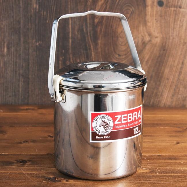 〔12cm 1.4L〕ブッシュクラフトの定番 ゼブラ社のビリー缶・ビリーポット 焚き火とキャンプの直火調理へ〔ステンレスSUS304製〕 2 - 全体写真です