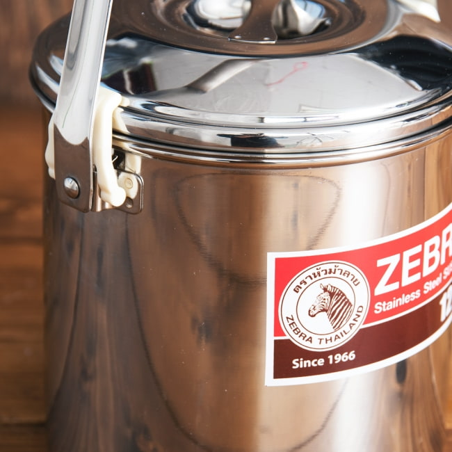 〔12cm 1.4L〕ブッシュクラフトの定番 ゼブラ社のビリー缶・ビリーポット 焚き火とキャンプの直火調理へ〔ステンレスSUS304製〕 3 - 拡大写真