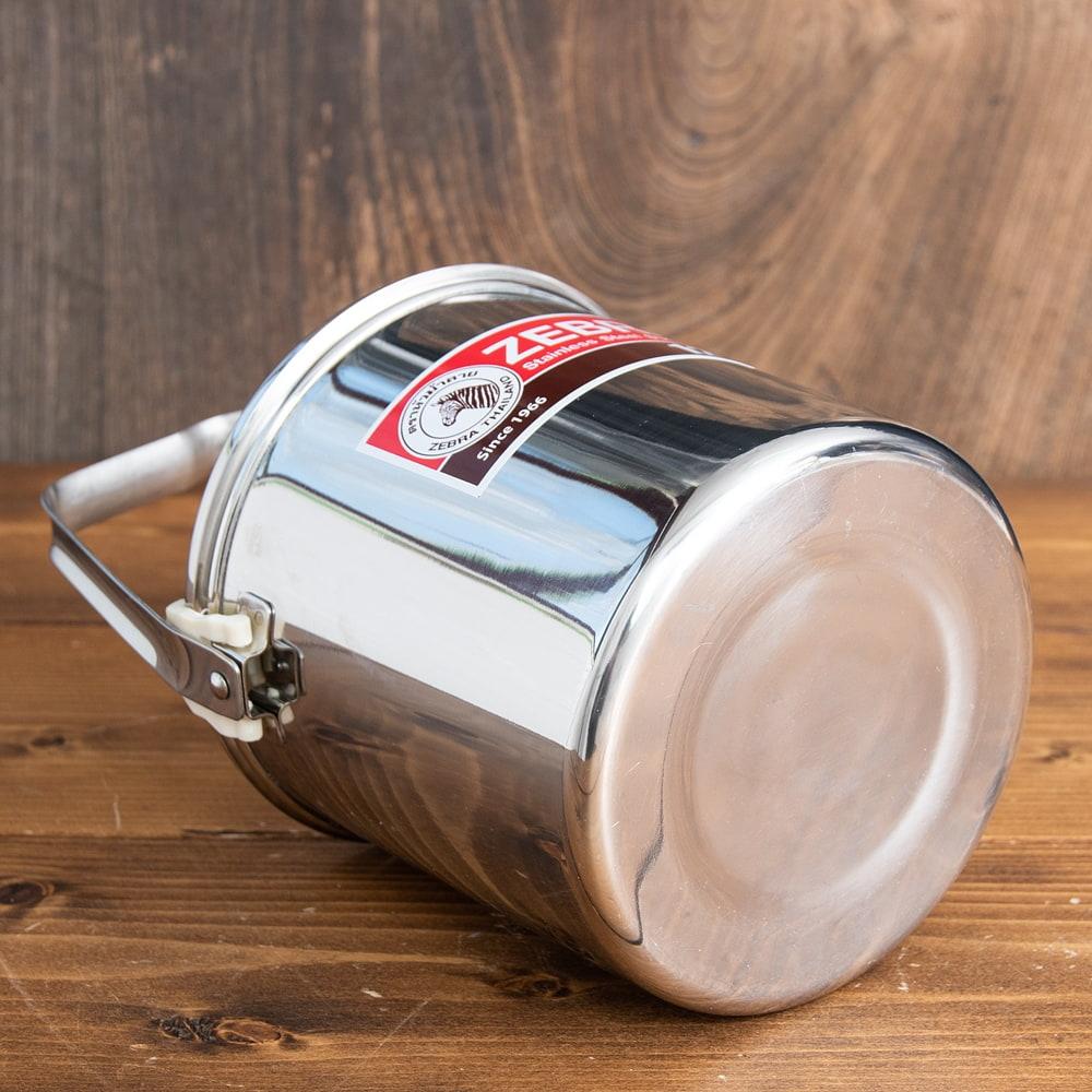 〔12cm 1.4L〕ブッシュクラフトの定番 ゼブラ社のビリー缶・ビリーポット 焚き火とキャンプの直火調理へ〔ステンレスSUS304製〕 5 - 底面です