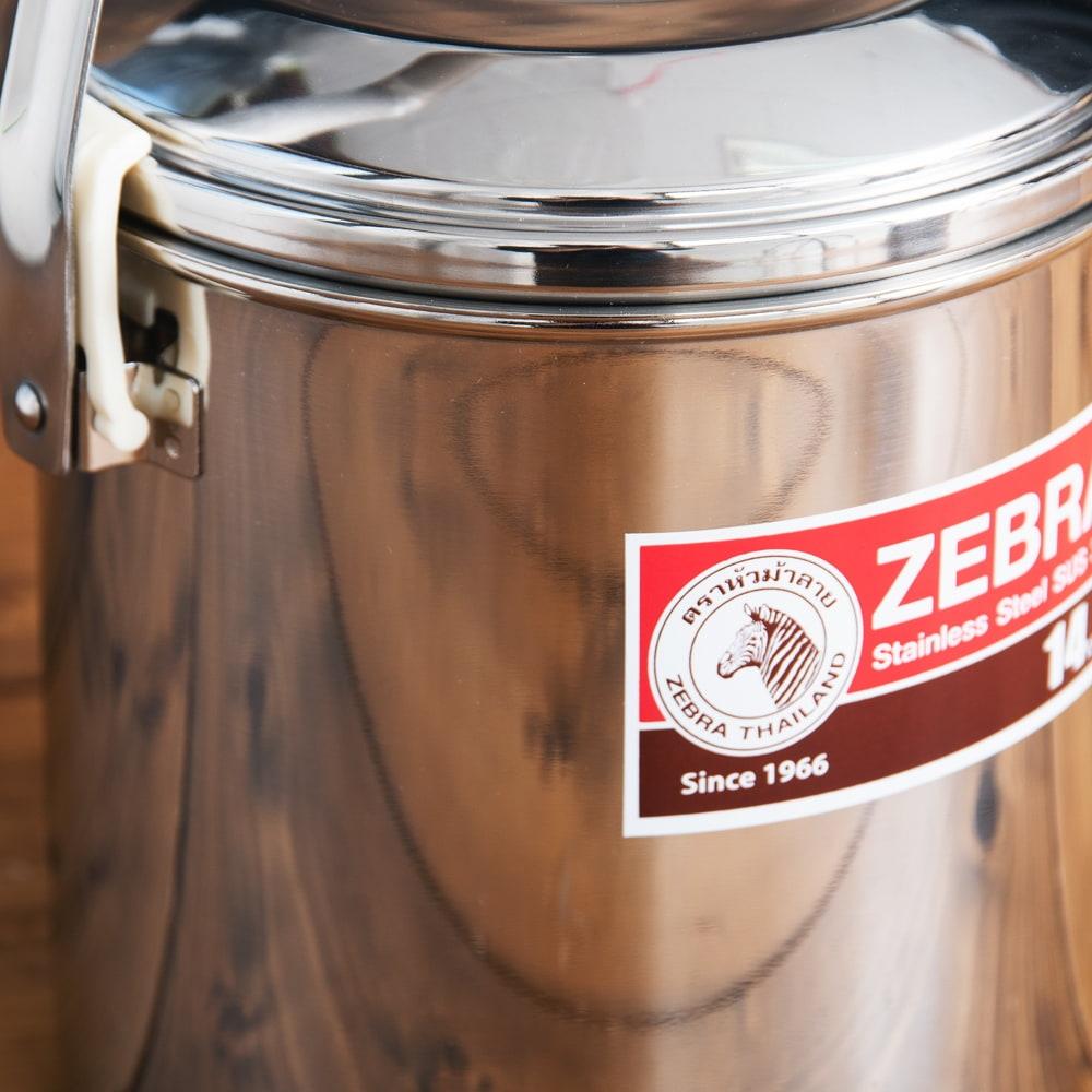 〔14cm 2L〕ブッシュクラフトの定番 ゼブラ社のビリー缶・ビリーポット 焚き火とキャンプの直火調理へ〔ステンレスSUS304製〕 3 - 拡大写真