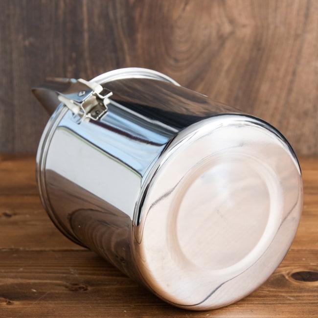 〔14cm 2L〕ブッシュクラフトの定番 ゼブラ社のビリー缶・ビリーポット 焚き火とキャンプの直火調理へ〔ステンレスSUS304製〕 5 - 底面です