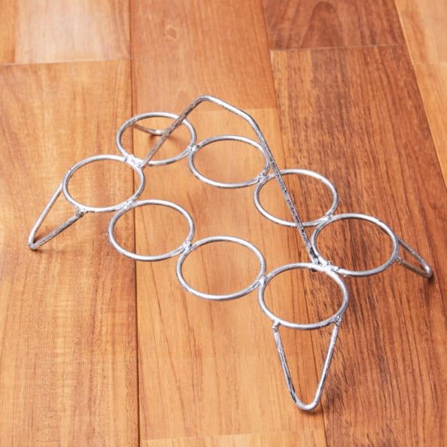 チャイワーラーのチャイカップホルダー - 8カップ用 2 - 全体写真です