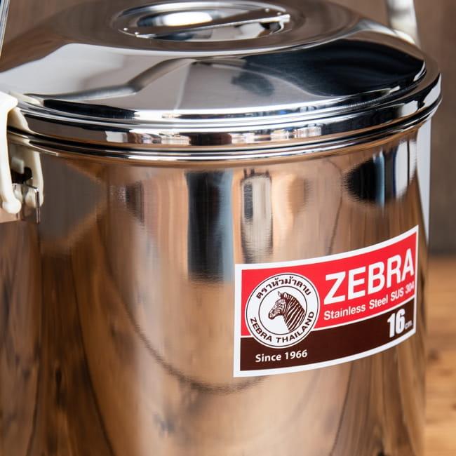 〔16cm 3L〕ブッシュクラフトの定番 ゼブラ社のビリー缶・ビリーポット 焚き火とキャンプの直火調理へ〔ステンレスSUS304製〕 3 - 拡大写真