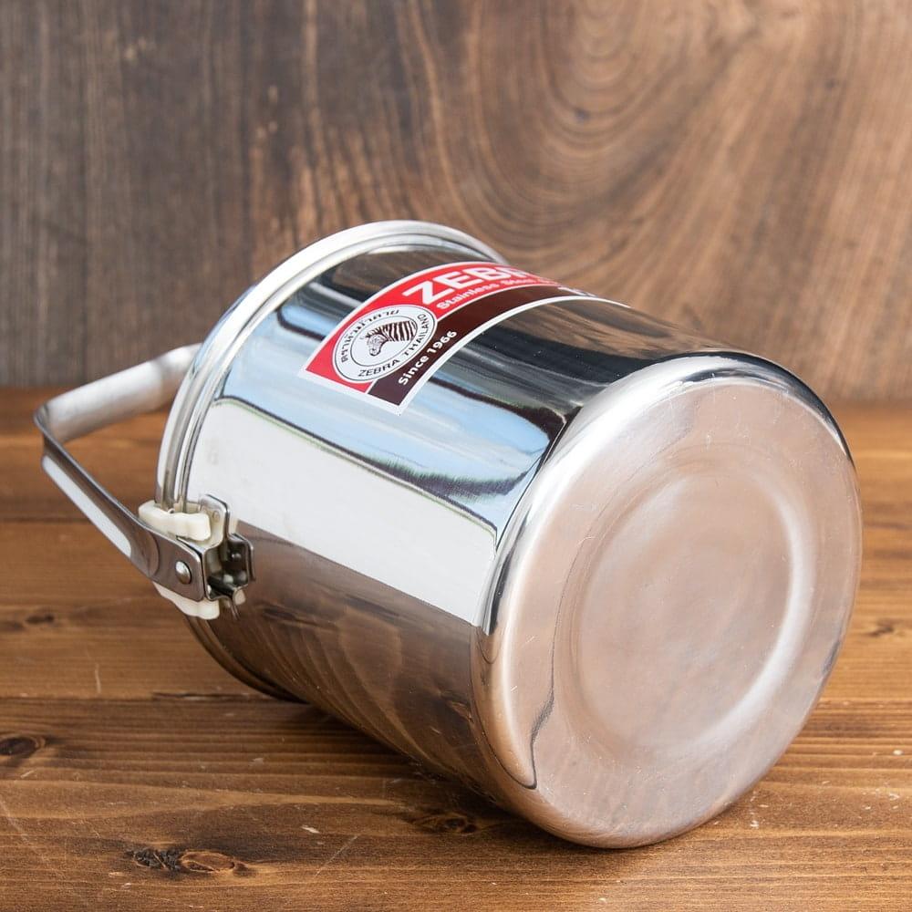 〔16cm 3L〕ブッシュクラフトの定番 ゼブラ社のビリー缶・ビリーポット 焚き火とキャンプの直火調理へ〔ステンレスSUS304製〕 5 - 底面です