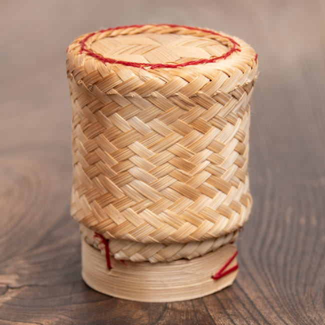 タイの竹製ごはんケース - 小の写真