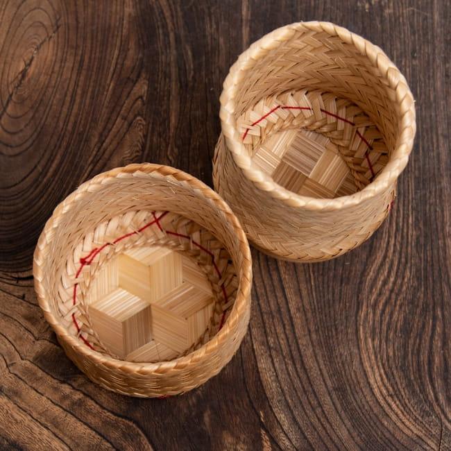 タイの竹製ごはんケース - 中 3 - フタをはずしてみました。