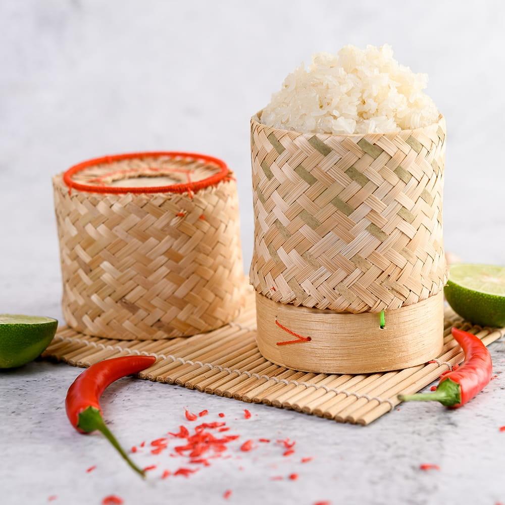 タイの竹製ごはんケース - 中 7 - タイでの使用例